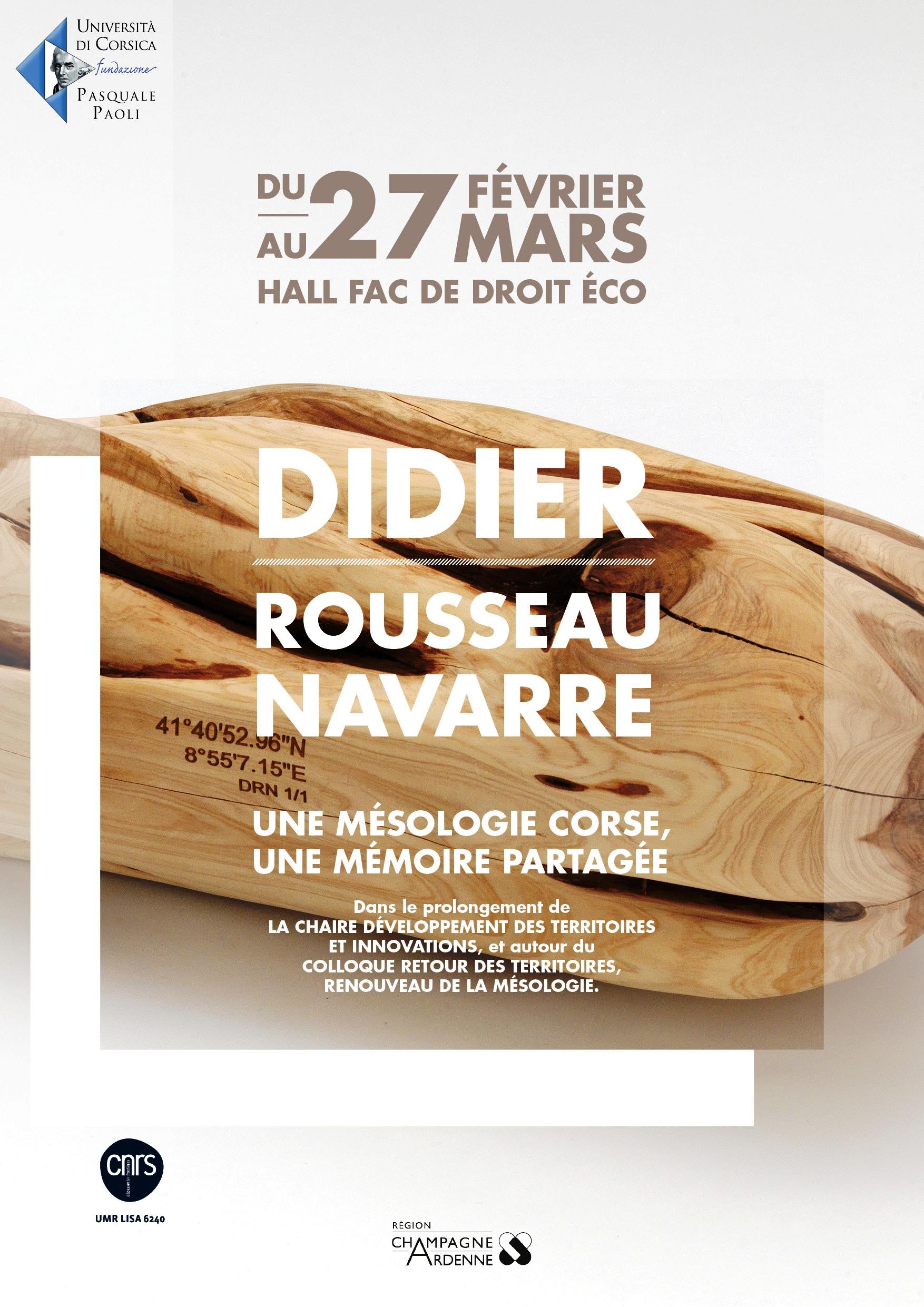 Expo à l'Université de Corse de Corte févier- mars 2015